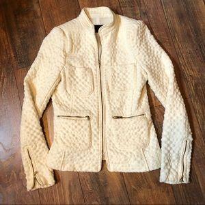 Zara basics ivory jacket size XS